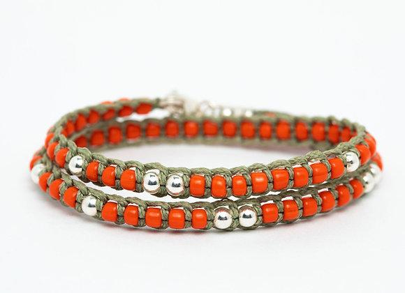 Komaki orange bracelet
