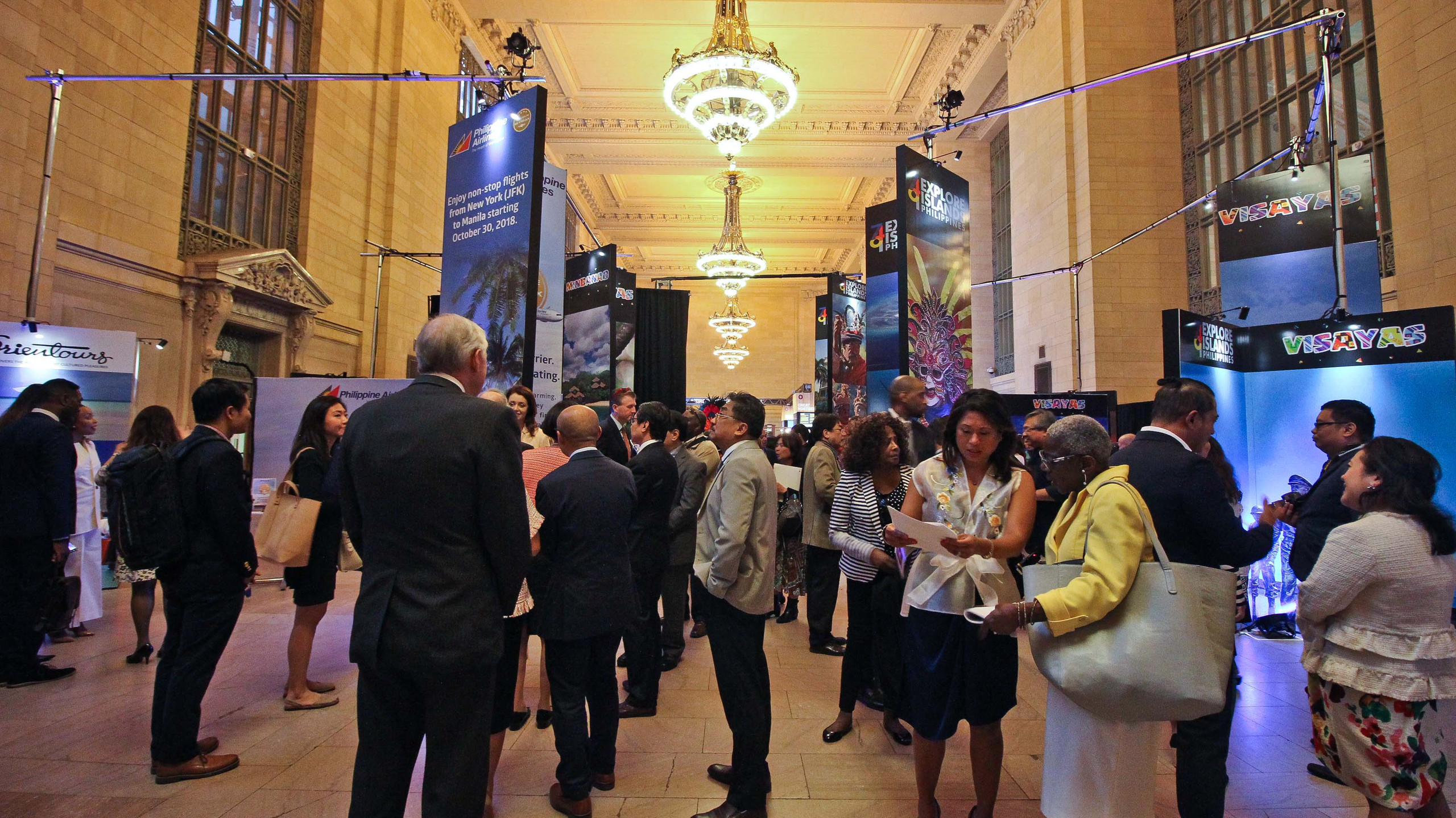 The Explore Islands Philippines launch and exhibit at the Vanderbilt Hall of the Grand Central Terminal, New York on May 9, 2018.