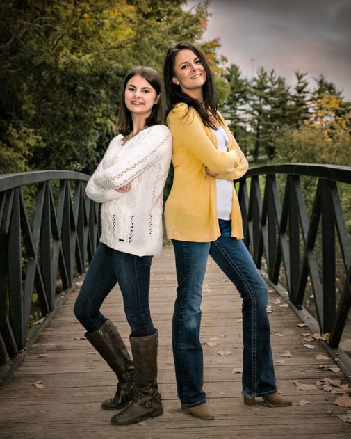 mother and daughter portrait