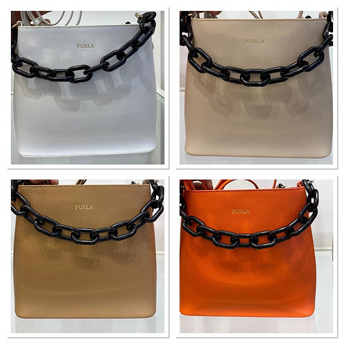 Furla chain and leather bag