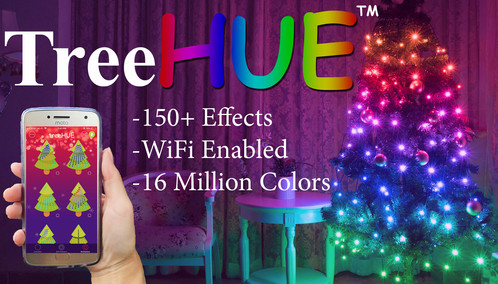 treehue smart christmas lights app controlled 150 effects