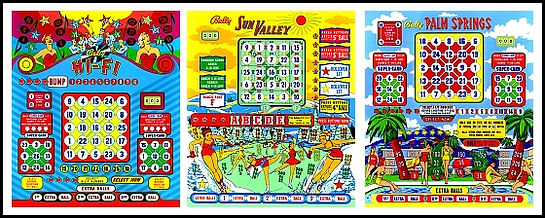 Bally Bingo Backglass | www.BingoRepair.com