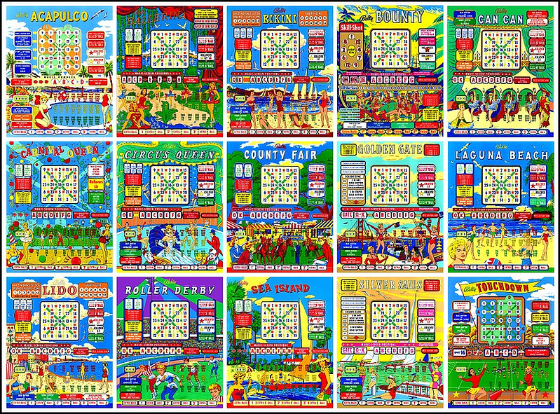 Bally Bingo Backglass Digital Scans | www.BingoRepair.com