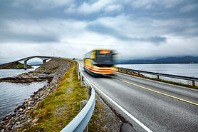 public-bus-traveling-on-the-road-in-norw