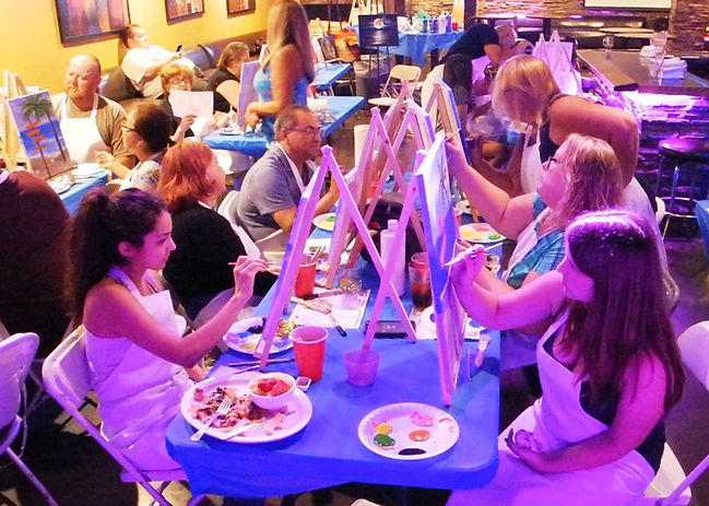 Group Paint party at Katie Jakes in Covina