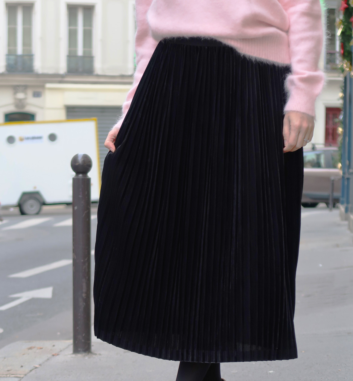Jupe Iman noir - Les Claudines mode made in France