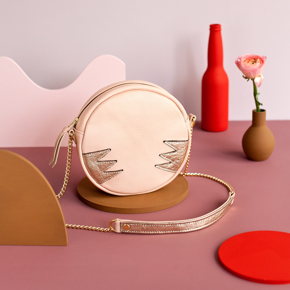Les Claudines - Sac Eclipse nude made in France