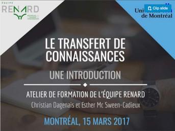 Introduction au transfert de connaissances