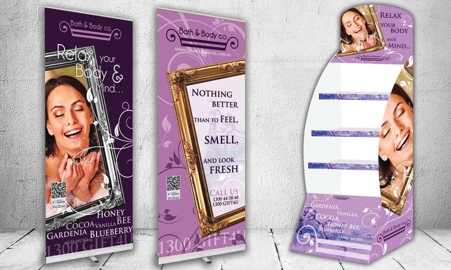Bath n Body Banners & Stand
