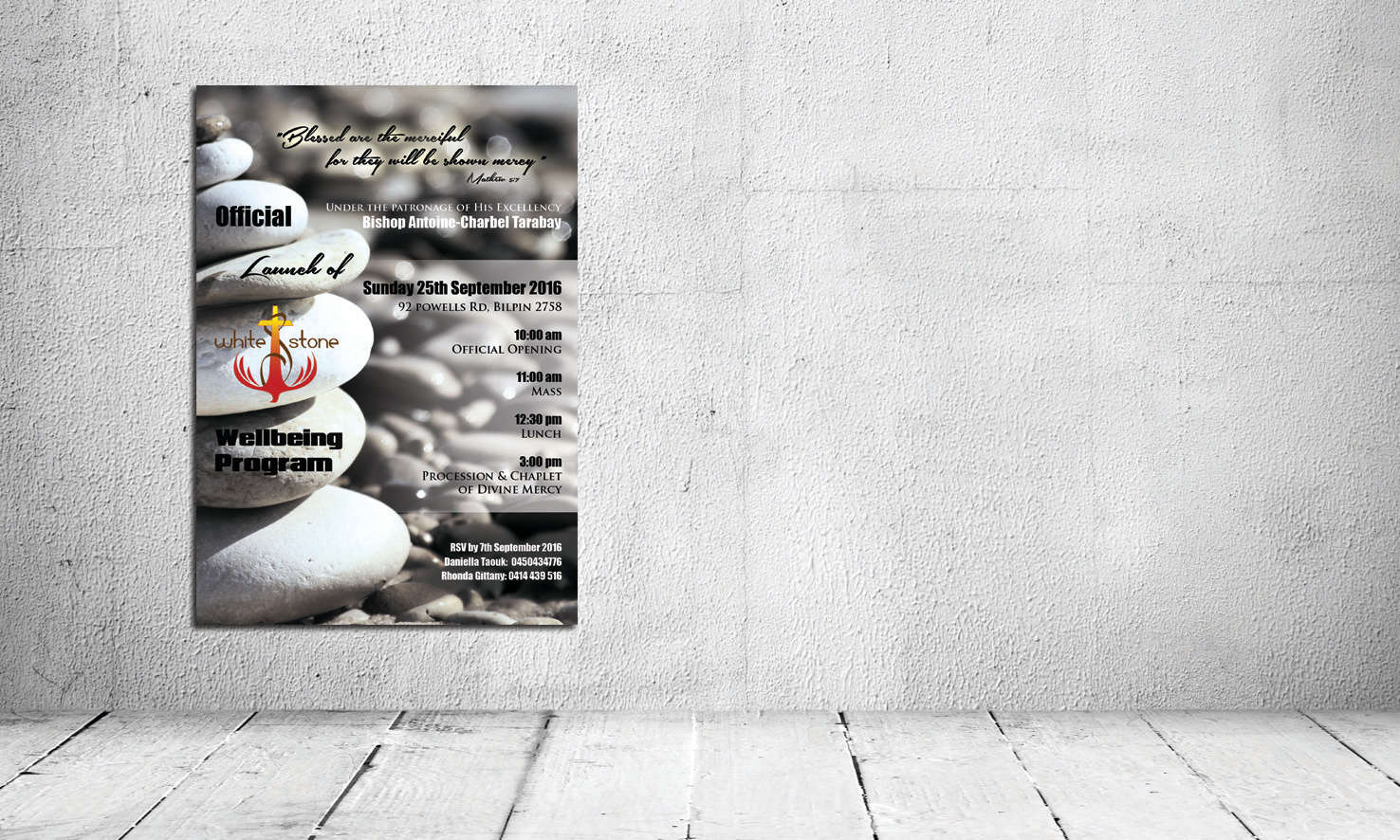 White Stone Poster Design