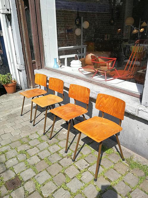 Set de chaises industrielles