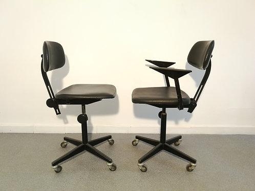 Paire de chaises de bureau