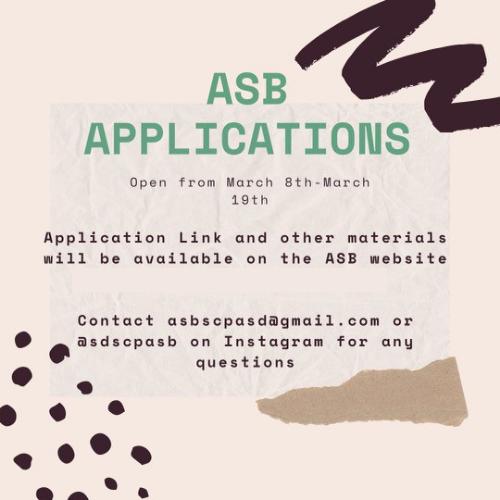 ASB Applications!