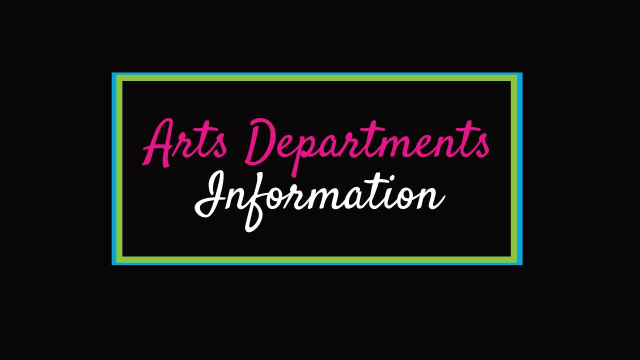 Arts Departments
