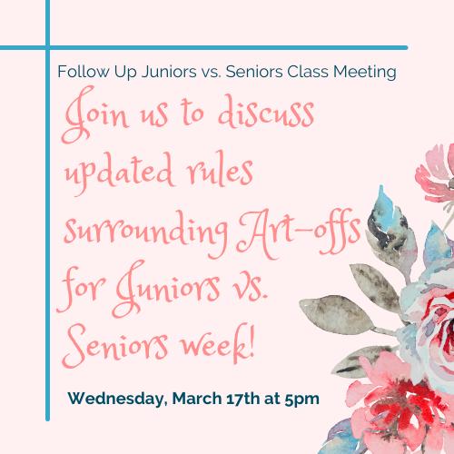Juniors vs. Seniors Meeting