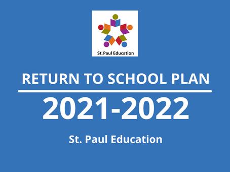 2021-22 Return to School Plan
