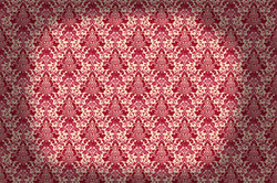 Damask pattern in red