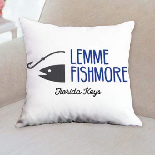 Lemme Fishmore Throw Pillow