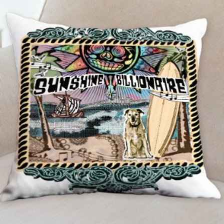 Sunshine Billionaire Throw Pillow