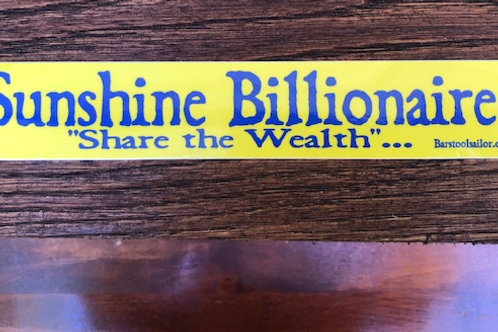Sunshine Billionaire Sticker