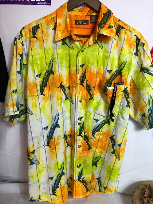 Sunshine Billionaire Tie Dye Men's Button Up