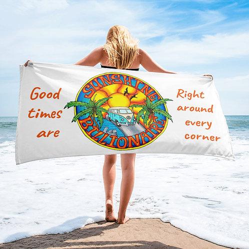 Sunshine Billionaire Beach Towel