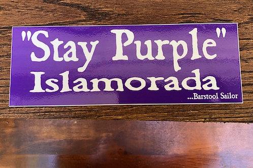 Stay Purple Islamorada Sticker