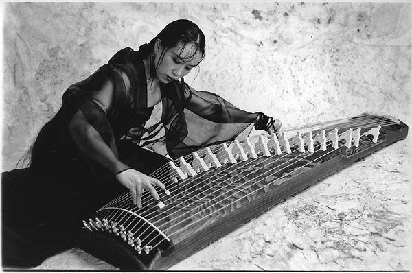 Michiyo Yagi playing the koto