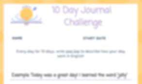 KEMJO 10 Day Journal Challenge