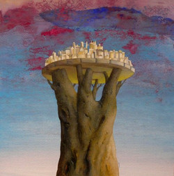 Tempera_su_carta__30x30____La_città_sull'albero_______.JPG