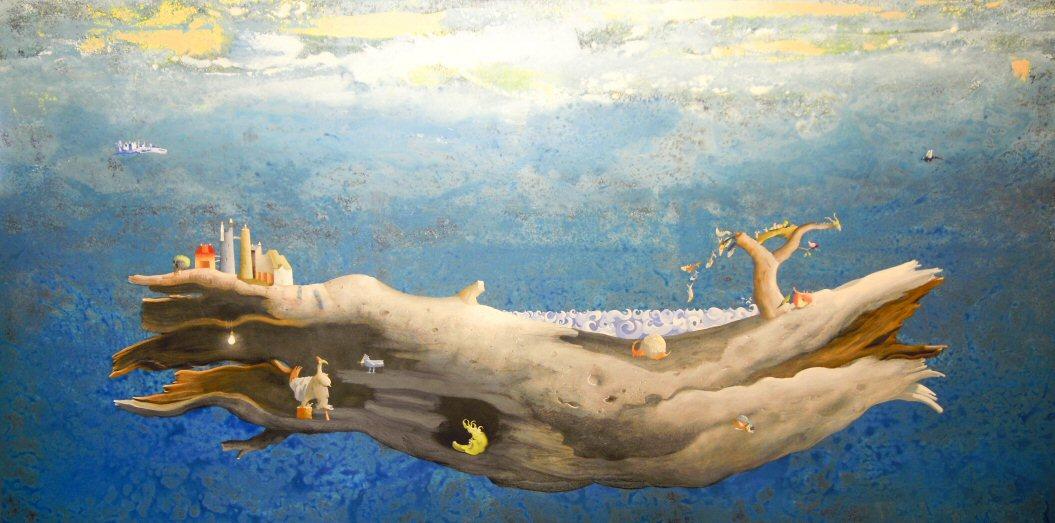 Acrilico e olio su tela  110x220   Tronco sospeso con luna verde_edited.jpg