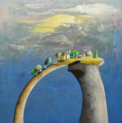 Acrilico e olio su tela  50x50  Arco in cielo.JPG