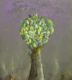 Acrilico e olio su tela  50x45   L'albero felice.JPG
