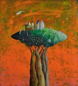 Acrilico e olio su tela  50x45   l'albero urbano   1.jpg
