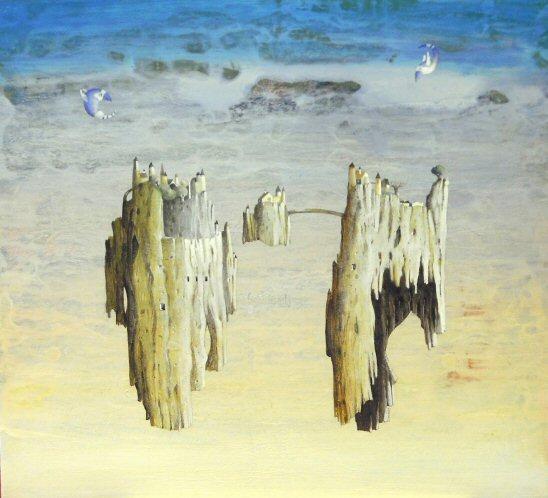 Acrilico e olio su tela  45x50   Isole in cielo.JPG