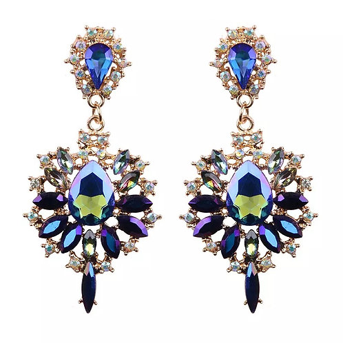 Drop Earrings Blue