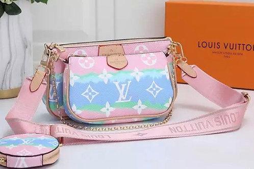 L Brand 3 in 1 Cross Body Bag Pink Multi