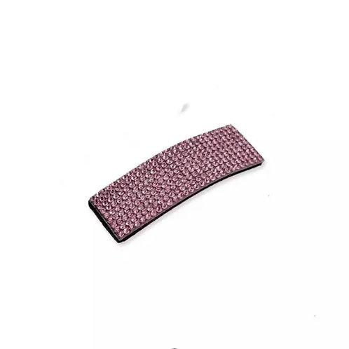 Single Rinestone Hair Clips Pink