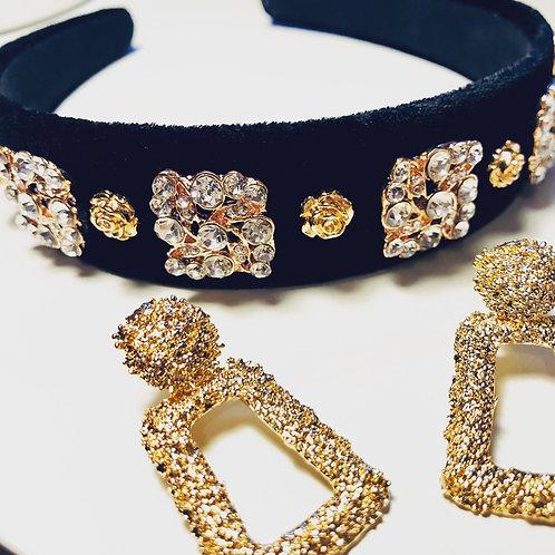 Miri Headband Set Black Gold