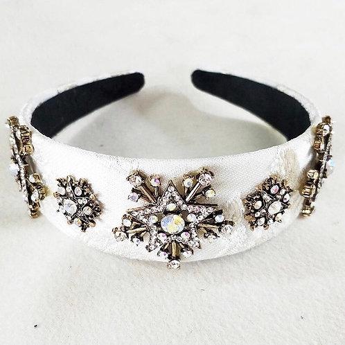 Starburst Headband White/Gold