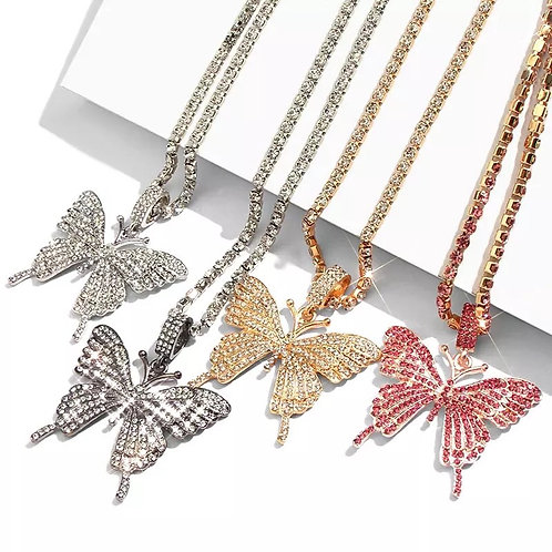 Butterfly Nechlace Tennis Chain