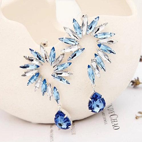 Blue Rinestone Earrings