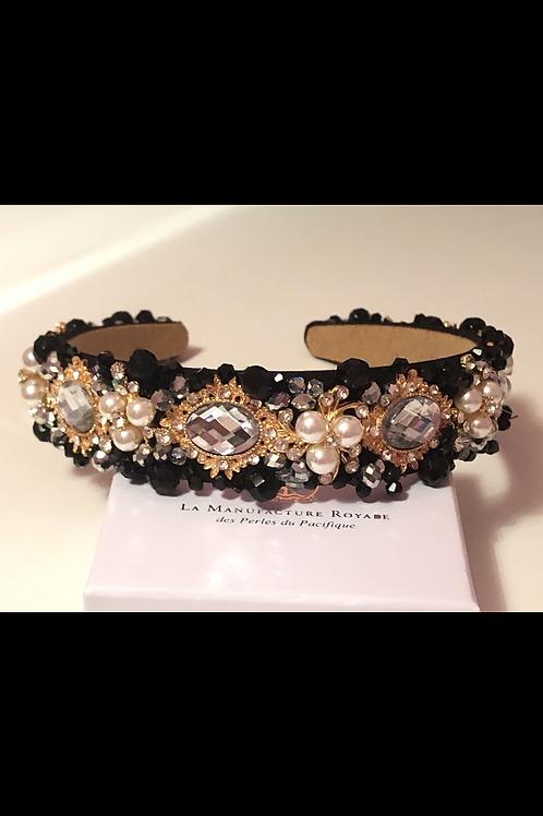 Athena Headband Black/Gold