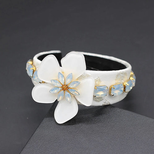 Calais Flower Headband white
