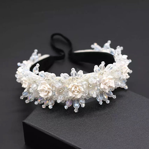 Angel Flower Headband White