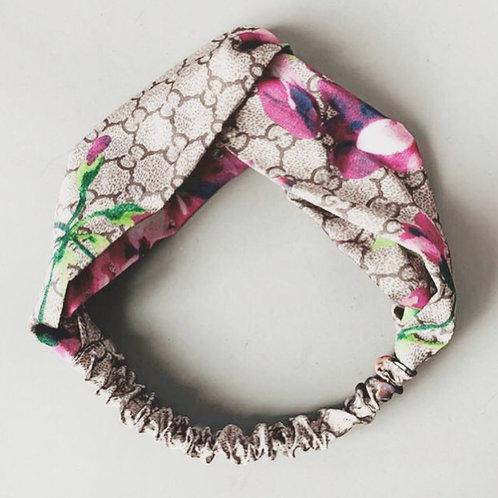 G Silk Headband Charcoal
