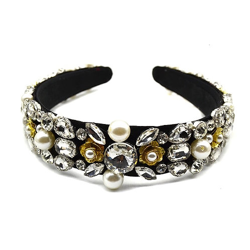 Keisha Headband Black/Gold