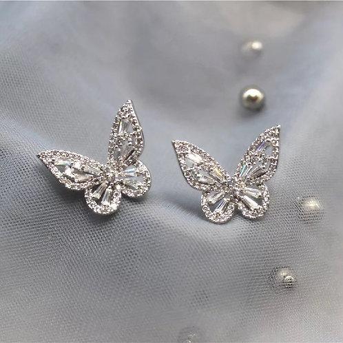 Butterfly Earrings Silver/Gold