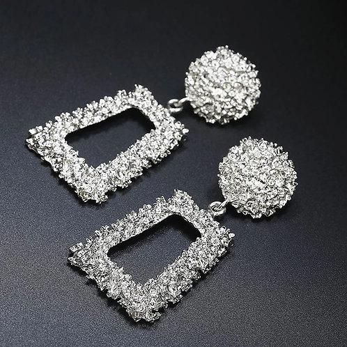 Door Knocker Earrings Silver