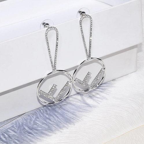 F Earrings Silver Silver